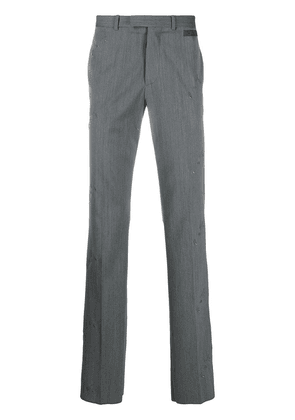 Off-White all-over logo tailored trousers - Grey