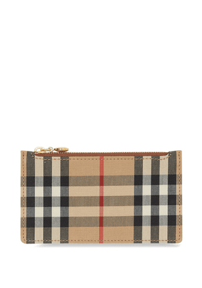 Burberry Vintage Check leather cardholder - Brown