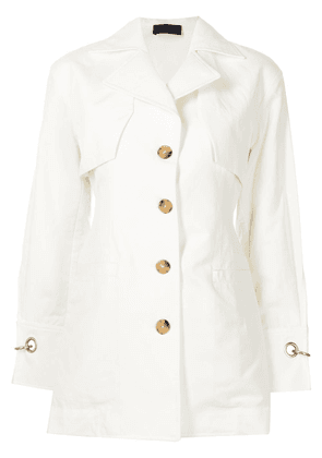 Eudon Choi single-breasted layered blazer - White