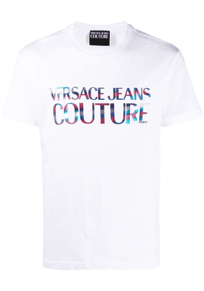 Versace Jeans Couture rainbow logo printed T-shirt - White