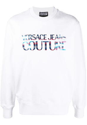 Versace Jeans Couture logo printed sweatshirt - White