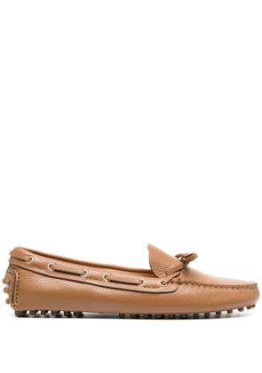 Car Shoe slip-on leather loafers - Brown