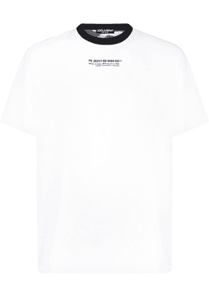 Dolce & Gabbana painted camouflage T-shirt - White