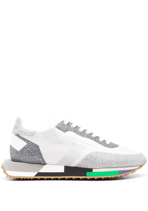 Ghoud colour-block panelled low-top sneakers - White