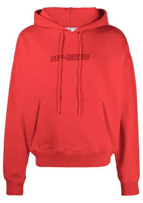 Off-White Pascal Painting logo-print hoodie - Red