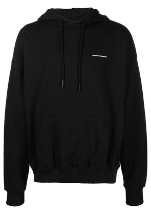 Drôle De Monsieur slogan-embroidered hoodie - Black