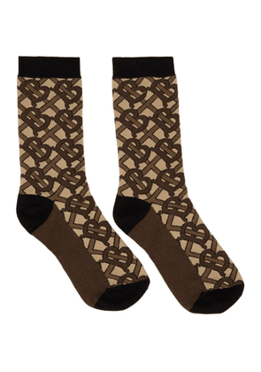 Burberry Brown TB Monogram Socks