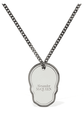 Skull Tag Long Necklace