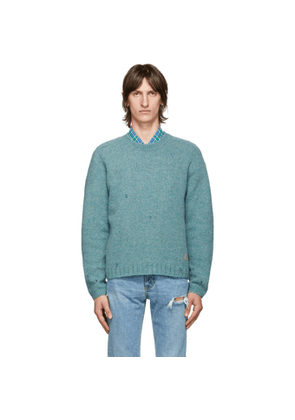 Gucci Blue Wool Square G Sweater