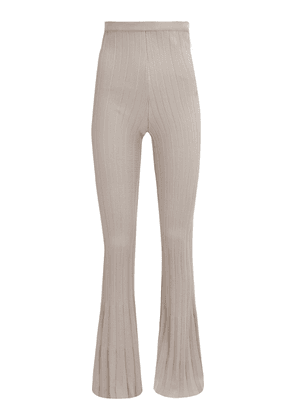 Beaufille Neruda Pleated Knit Flared Trousers