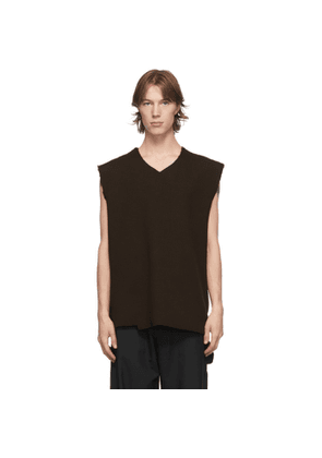 Camiel Fortgens Brown Spencer V-Neck Vest