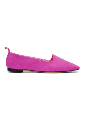 Repetto Pink Suede Neve Slippers