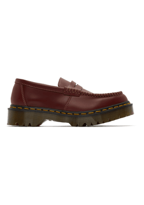 Comme des Garcons Comme des Garcons Burgundy Dr. Martens Edition Made In England Penton Bex Loafers