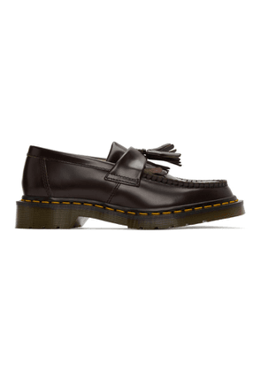 Comme des Garcons Comme des Garcons Burgundy Dr. Martens Edition Made In England Adrian Loafers