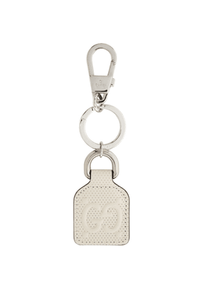 Gucci White GG Embossed Keychain