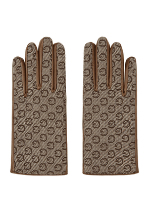 Gucci Brown Leather and G Gloves