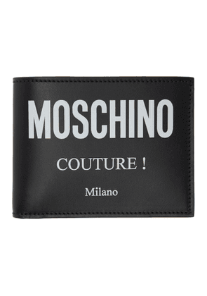 Moschino Black Couture Bifold Wallet