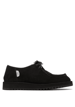 Suicoke - Shearling-lined Lace-up Suede Shoes - Womens - Black