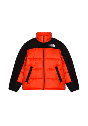The North Face HMLYN Insulated Jacket in Black,Red. Size S.