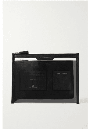 Anya Hindmarch - Safe Deposit Leather-trimmed Pvc Pouch - Black