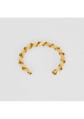 Burberry Gold-plated Chain-link Cuff, Yellow