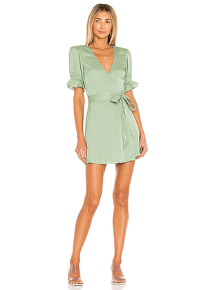 House of Harlow 1960 x REVOLVE Aja Mini Dress in Sage. Size M, S, XL, XS, XXS.