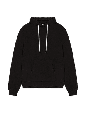 JOHN ELLIOTT Beach Hoodie in Black. Size M, S, XL.