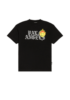 Palm Angels Burning Head Tee in Black. Size M, S, XL.