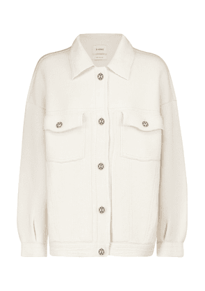 Cashmere and cotton knit jacket