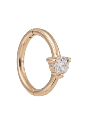 14kt gold single earring with diamonds