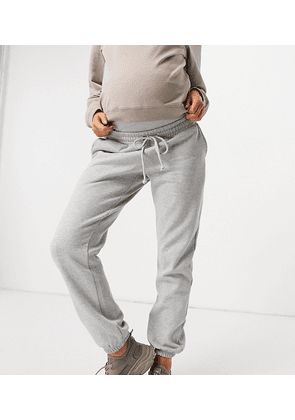 Missguided Maternity 90's jogger in grey marl