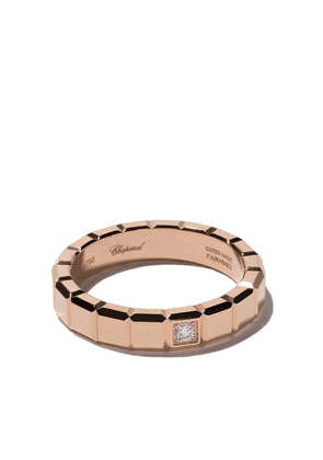 Chopard 18kt rose gold Ice Cube diamond ring - Pink