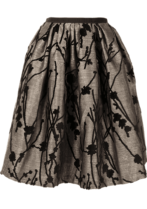 Antonio Marras floral embroidered full skirt - GOLD
