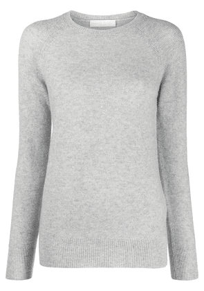 Fabiana Filippi round neck knitted jumper - Grey