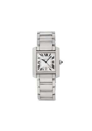 Cartier 2002 pre-owned Tank Francaise 28mm - SILVER