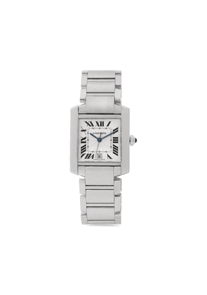 Cartier 2005 pre-owned Tank Francaise 28mm - SILVER