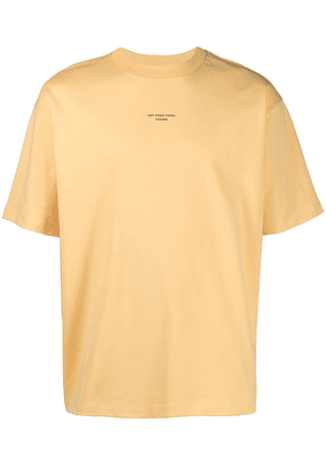 Drôle De Monsieur NFPM slogan-print T-shirt - Yellow