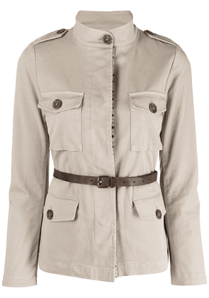 Bazar Deluxe belted safari jacket - Neutrals