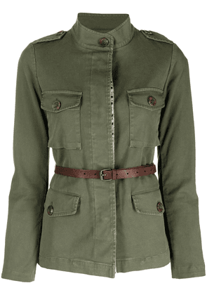 Bazar Deluxe belted waist safari jacket - Green