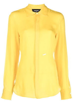 Dsquared2 logo-detail buttoned blouse - Yellow