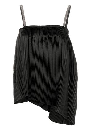 Fabiana Filippi pleated asymmetric top - Black