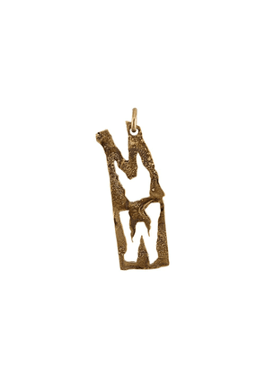 Acne Studios alphabet M earring - Gold