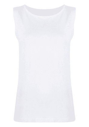 Fabiana Filippi linen-blend sleeveless top - White