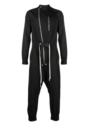 Rick Owens zip-detail jumpsuit - Black