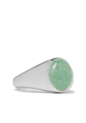 TOM WOOD - Sterling Silver and Aventurine Signet Ring - Men - Silver