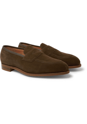 Edward Green - Piccadilly Full-Grain Penny Loafers - Men - Green