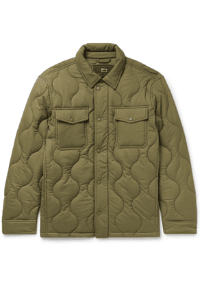 Aimé Leon Dore - Woolrich Quilted Padded Stretch-Ripstop Shirt Jacket - Men - Green