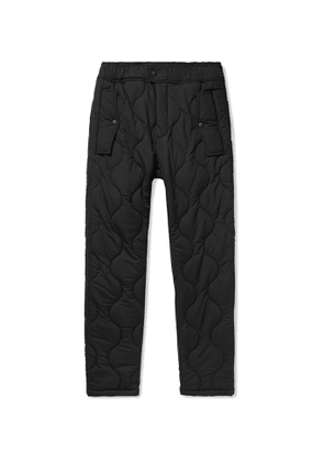 Aimé Leon Dore - Woolrich Quilted Padded Stretch-Ripstop Trousers - Men - Black