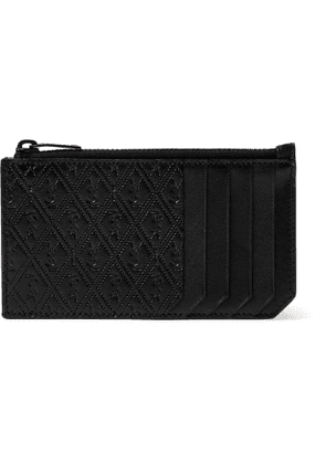 SAINT LAURENT - Monogram-Debossed Leather Cardholder - Men - Black