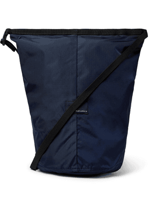 nanamica - Utility Small Ripstop and Microsuede Messenger Bag - Men - Blue